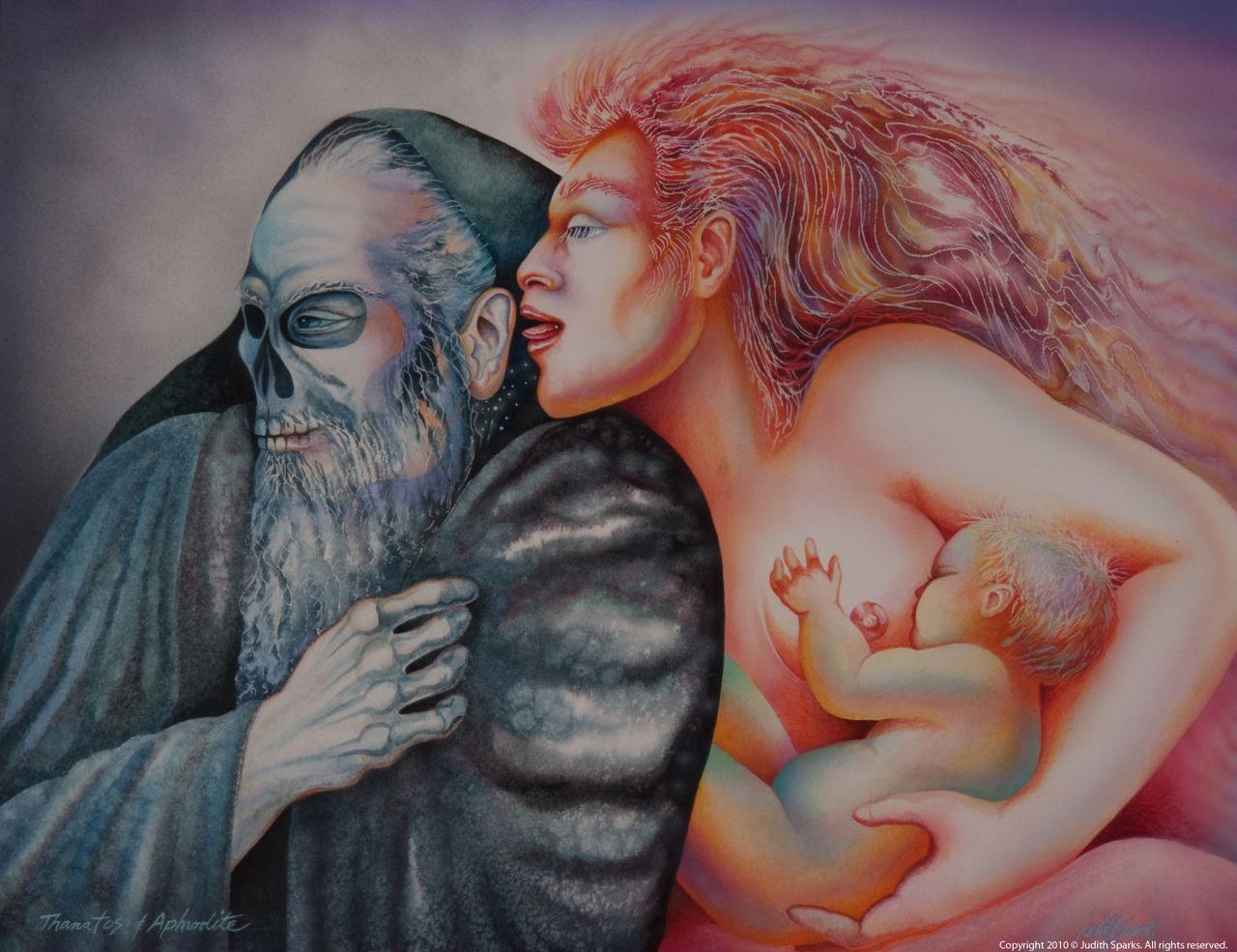 Aphrodite & Thanatos