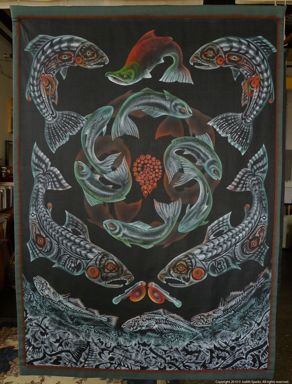 Salmon Totem